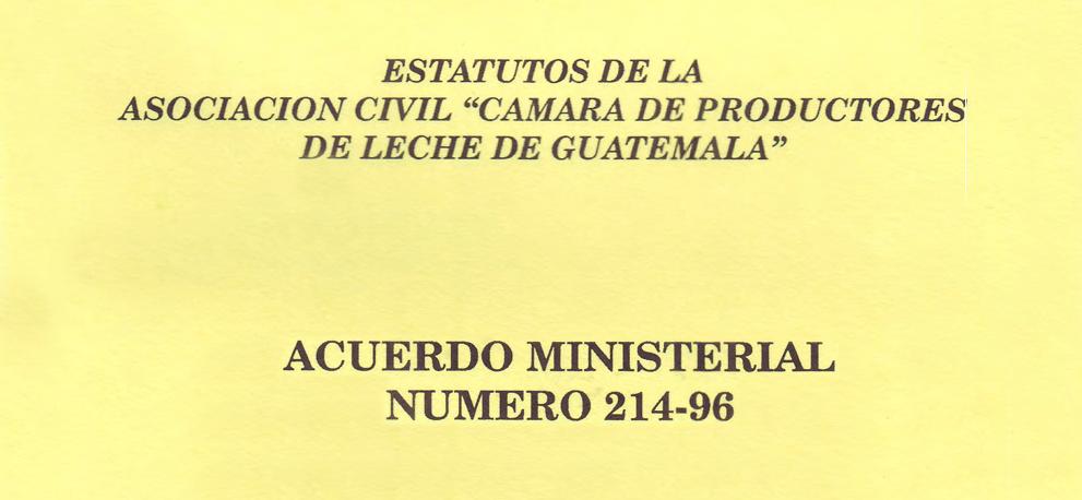 Estatutos Cámara de Productores de Leches